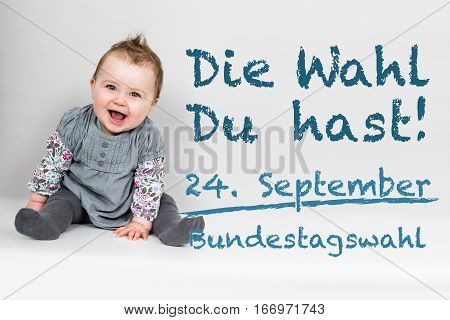 Baby With German Appeal To Go Vote At German Federal Election 2017