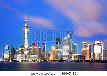 beautiful of shanghai night scene