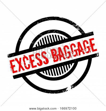 Excess Baggage rubber stamp. Grunge design with dust scratches. Effects can be easily removed for a clean, crisp look. Color is easily changed.