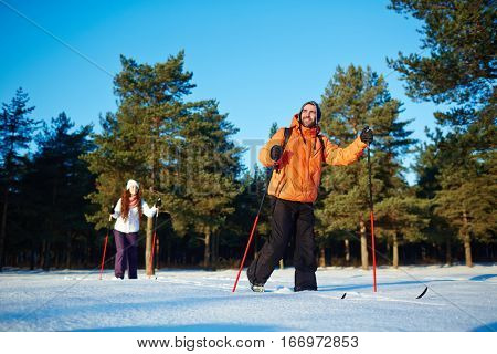 Skiing in crocc-country