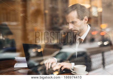 Dedicated Businessman at Work