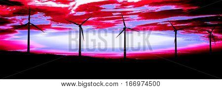 Wind Farm after Sunset