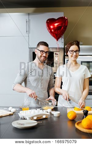 Sweethearts cooking