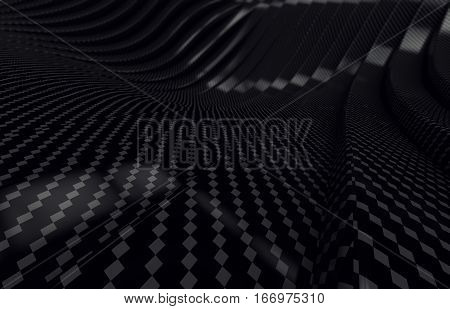 Abstract carbon fibre material  Background 3d render