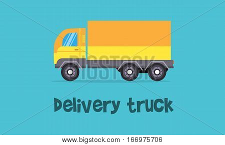 Illustration of yellow delivery truck collection stock