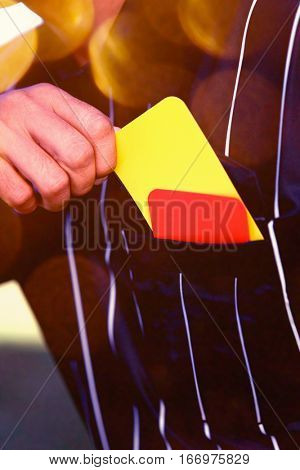 Referee Drawing Card from Pocket