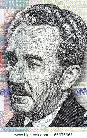Moshe Sharett portrait from Israeli money - twenty shekel