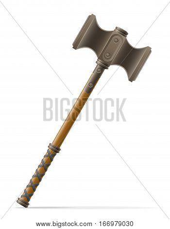 battle hammer medieval stock vector illustration isolated on white background