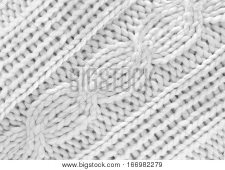 White knitted cloth knit print weave braid