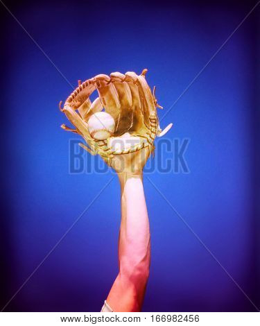 Baseball Player Catching Baseball