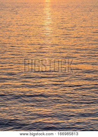 Sun Rays Over The Water
