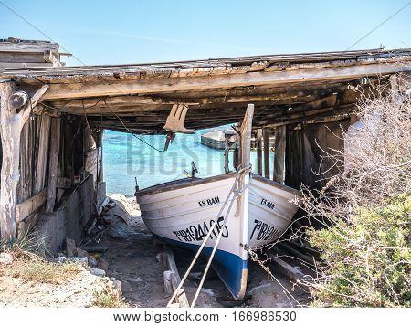 Boat In Es Calo, Formentera
