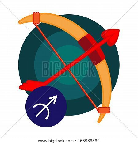 Sagittarius astrology sign isolated on white. Horoscope symbol represented as stars in shape of centaur archers. Zodiac constellations astrological mythology icon vector design illustration