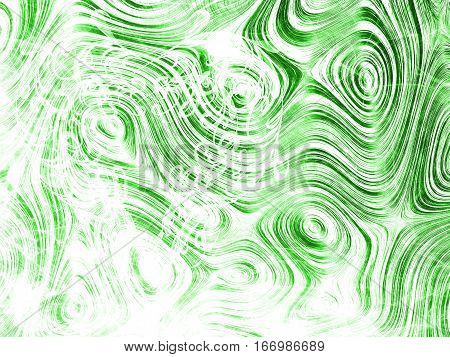 Green Lovely Romantic Heart, Abstract Romance Heart Line Background, Colorful Backdrop