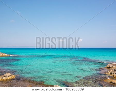 Blue Waters of the Formentera sea, Spain