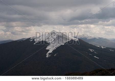 firts snow in mountains (Bieszczady - Poland)