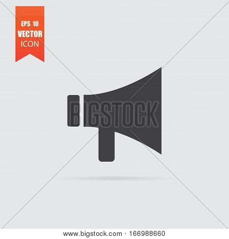Mouthpiece Icon In Flat Style Isolated On Grey Background.