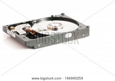 hard disk drives 2.5 and 3.5 inches on a white background