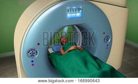 Magnetic resonance imaging (MRI) is a type of scan that uses strong magnetic fields and radio waves to produce detailed images of the inside of the body.