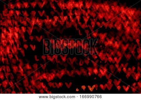 lov red bokeh effect dark black background