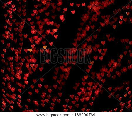 hearts bokeh effect background saint valentine's day