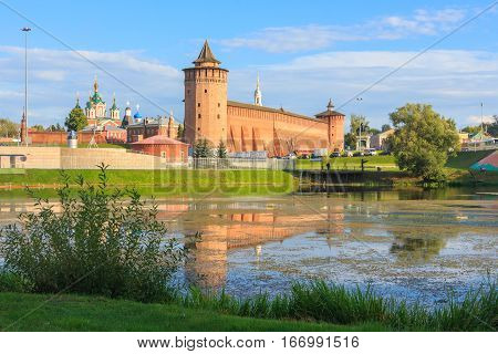 View on Kolomna Kremlin from the river.