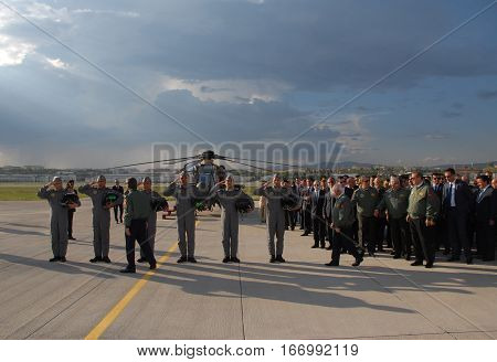 ANKARA, TURKEY - JUNE 10, 2014: Turkish Land Forces Aviation Command