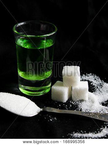 Absinthe With Sugar Cubes