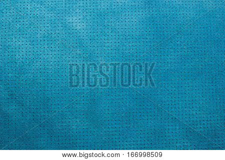 Blue velvet perforated leather texture background suede dots