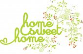 home sweet home design with floral poster