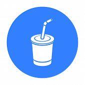 Coca-Cola vector illustration icon in blue design poster