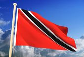 High resolution 3D Trinidad And Tobago flag (with clipping path) poster
