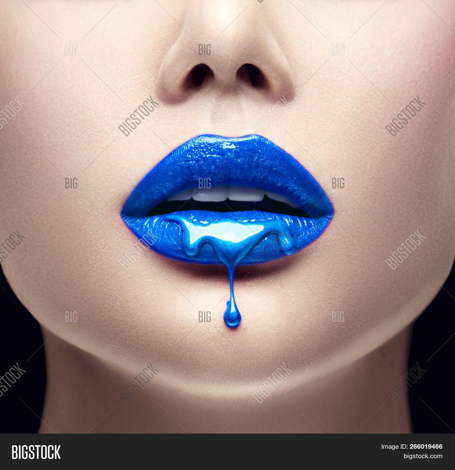 Lipstick Blue Paint Image Photo Free Trial Bigstock