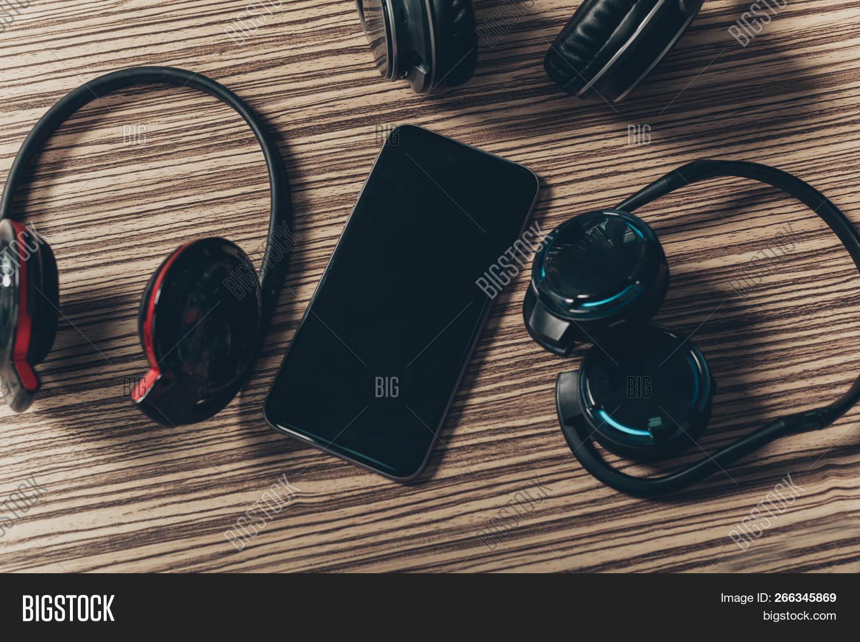 Headphones Smart Phone Image Photo Free Trial Bigstock
