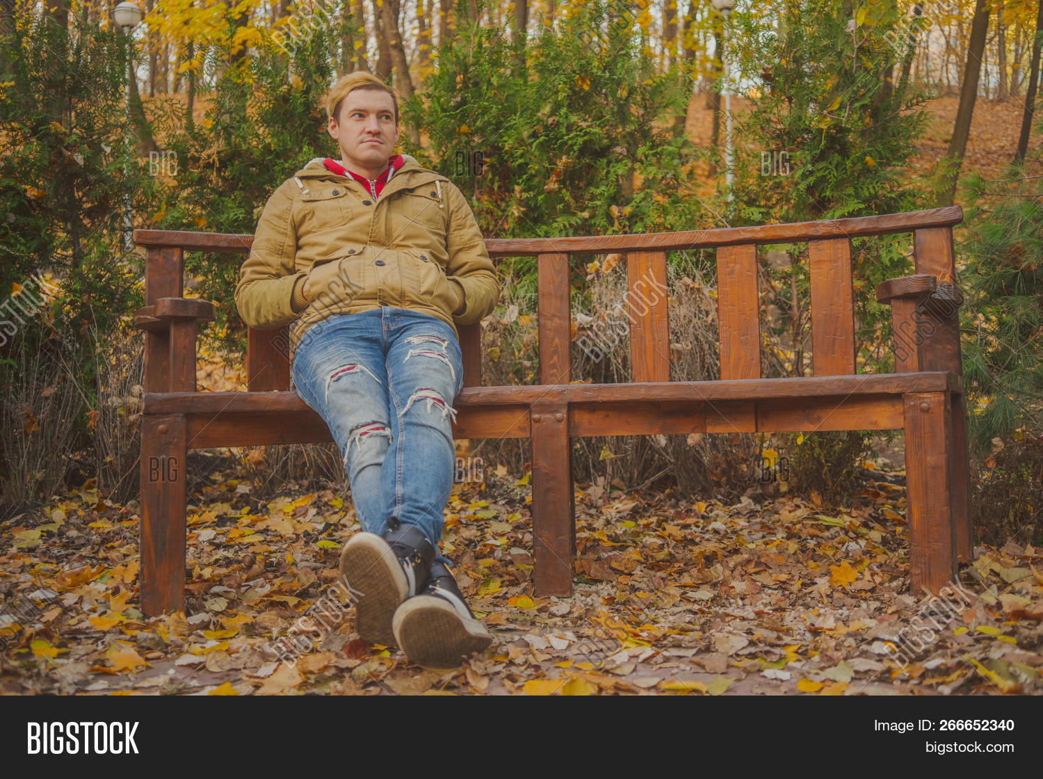 Handsome Guy Sitting Image Photo Free Trial Bigstock