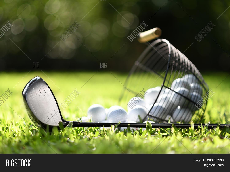 Golf Club Golf Balls Image Photo Free Trial Bigstock
