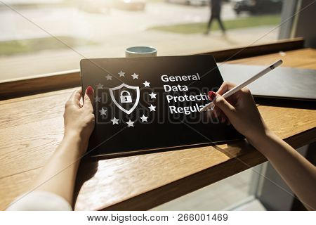 Gdpr. General Data Protection Regulation Compliance, European Information Security Law.