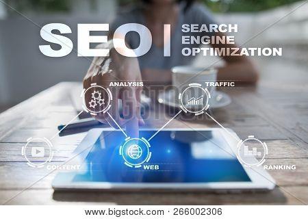 Seo Search Engine Optimization, Digital Marketing, Business Internet Technology Concept.