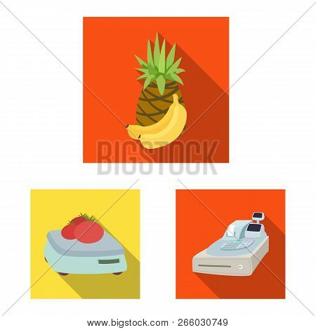Vector Design Of Food And Drink Sign. Collection Of Food And Store Vector Icon For Stock.