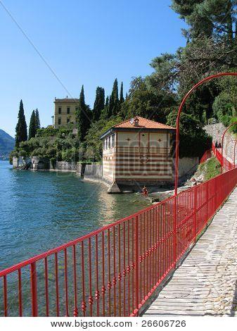 View to the lake Como from villa Monastero, Italy