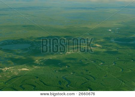 Western Siberia Airview