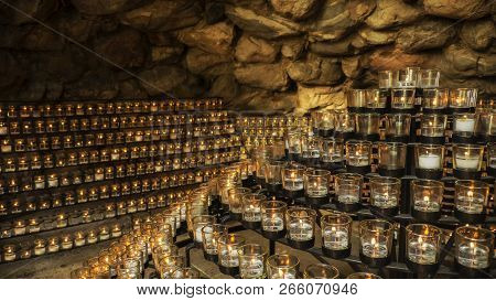 Grotto Of Our Lady Of Lourdes At The University Of Notre Dame