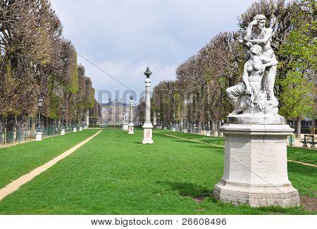 Luxembourg garden in Paris