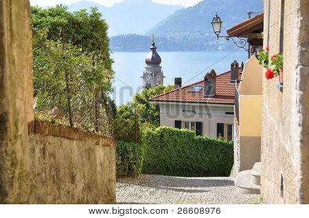Menaggio town at famous Italian lake Como poster
