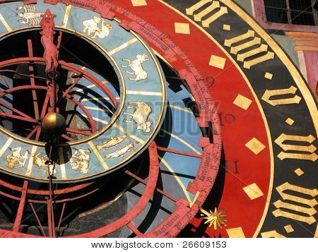 Famous Zytglogge zodiacal clock in Bern, Switzerland poster