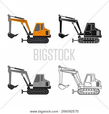Vector Illustration Of Build And Construction Icon. Collection Of Build And Machinery Stock Vector I