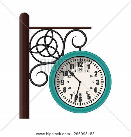 Vector Illustration Of Clock And Time Sign. Collection Of Clock And Circle Stock Vector Illustration