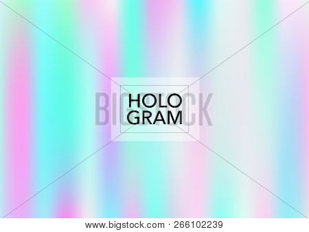 Magic Hologram Lights Vector Background. Luxury Trendy Tender Pearlescent Color Overlay. Cool Funky