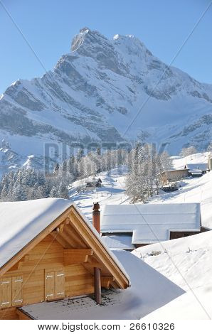 Braunwald, famous Swiss skiing resort