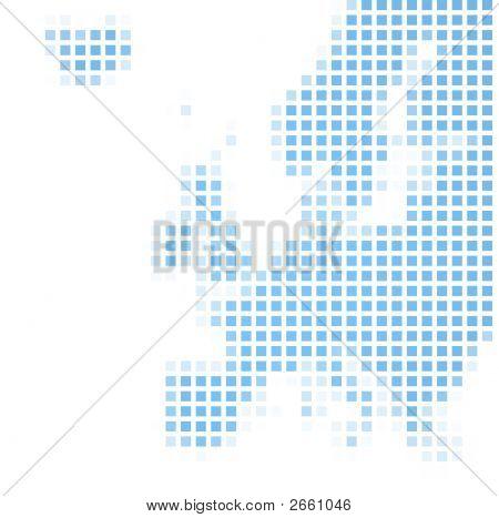 Europe Map Square Mosaic